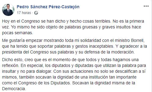 Photo of Sánchez evita criticar a Rufián, para no enfadar a los independentistas