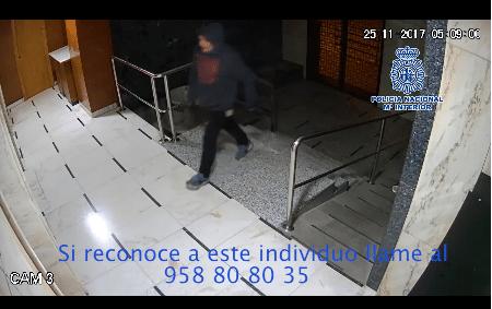 Photo of La Policía pide la colaboración ciudadana para identificar al presunto autor del incendio de un edificio en Granada