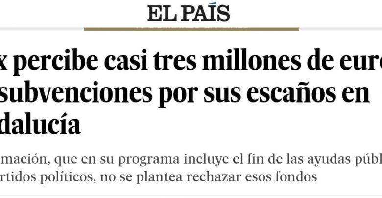Photo of El País vuelve a dar información manipulada de VOX, y VOX le calla