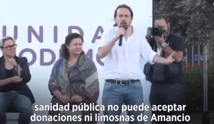 Photo of Iglesias desprecia las donaciones de Amancio Ortega, tachándolas de «limosnas»