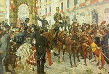 Photo of 3.000 banderas españolas en mástiles y balcones. Barcelona 1860