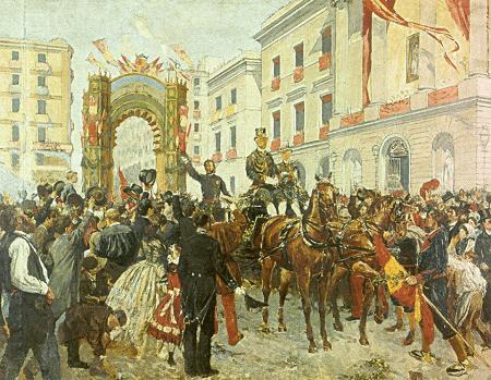 Photo of «Miles de banderas españolas en las calles» Explosión de patriotismo español en Cataluña (1860)