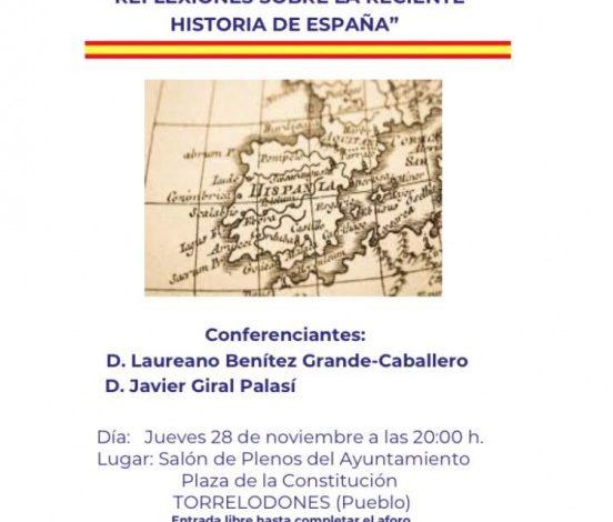 Photo of Vox Torrelodones inaugura un ciclo de conferencias, con un acto donde se reflexiona sobre la reciente historia de España