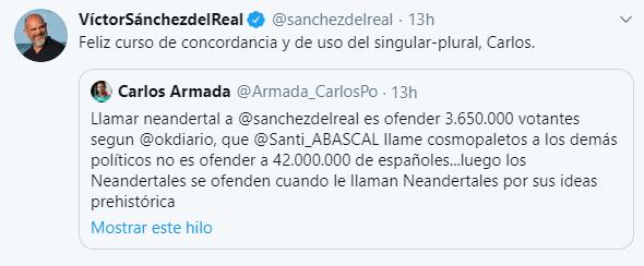 Photo of Un político de «Mas País» llama «neandertales» a los votantes de VOX y se lía en Twitter