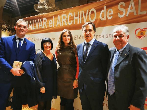 Photo of DLP asiste a la entrega de premios «Salvar el Archivo de Salamanca» y reclama la devolución de los 400.000 documentos