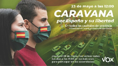 Photo of VOX convoca el 23 de mayo la Caravana por España y su Libertad
