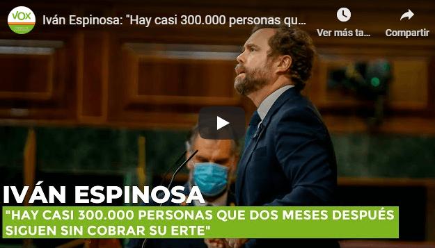 Photo of Iván Espinosa: «Hay casi 300.000 personas que dos meses después siguen sin cobrar su ERTE»