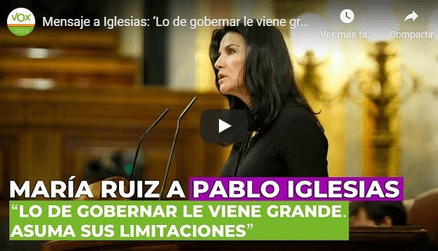 Photo of Mensaje a Iglesias: 'Lo de gobernar le viene grande. Asuma sus limitaciones con un poco de humildad'