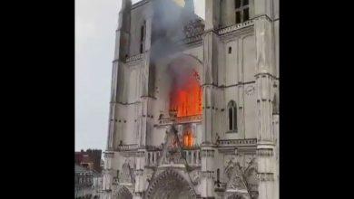 Photo of Un voraz incendio causa graves daños en la catedral de Nantes, Francia