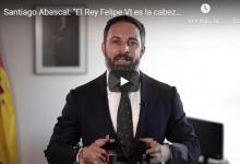Photo of Santiago Abascal: «El Rey Felipe VI es la cabeza de la Nación»