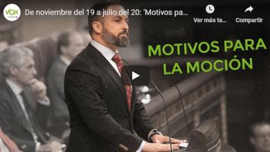 Photo of De noviembre del 2019 a julio del 2020: 'Motivos para la moción' (VÍDEO)