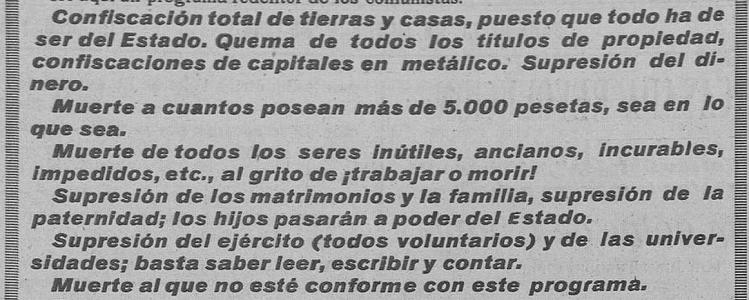 Photo of Programa comunista publicado durante la Segunda República