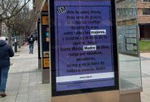 Photo of Día de la Mujer: Colocan carteles con el Ave María en 30 ciudades de España