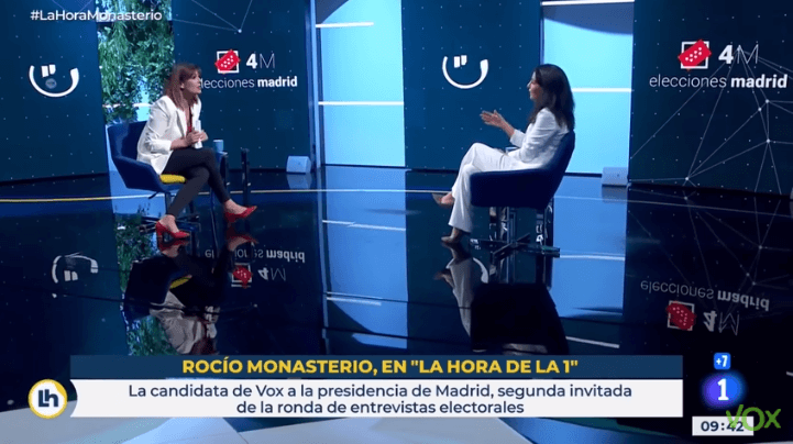 Photo of VOX denuncia a TVE ante la JEC por la actitud de la presentadora Mónica López con Rocío Monasterio